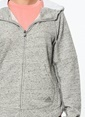 adidas Kapüşonlu Fermuarlı Sweatshirt Gri